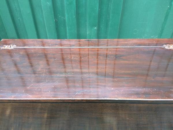 Image 3 of retro oak storage blanket box project upcycle