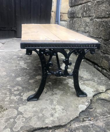 Image 1 of HANDMADE GARDEN RUSTIC BENCH/COFFEE TABLE
