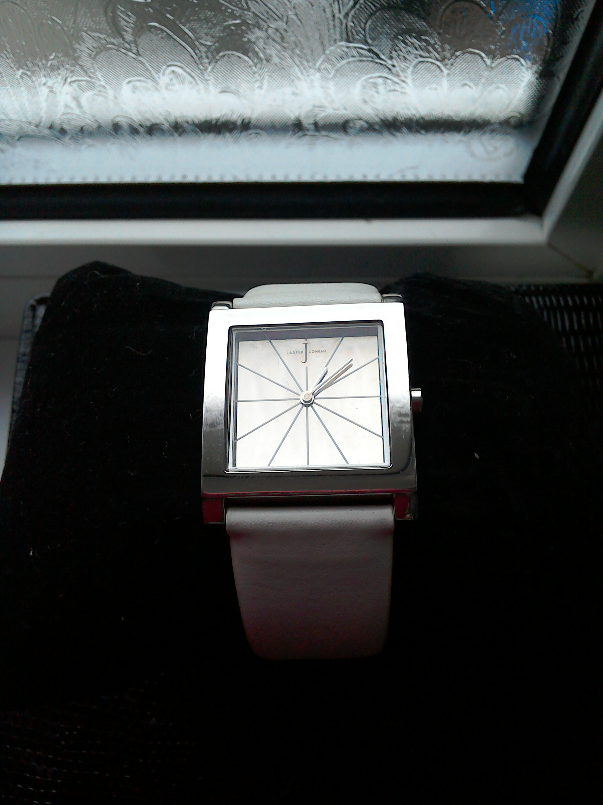 J by Jasper Conran Silver Watch with White Strap for sale  Hull