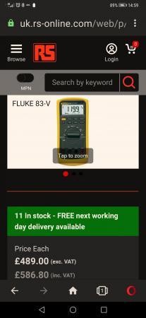 Image 2 of fluke 83 v multimeter