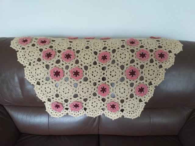 Preview of the first image of New Handmade Floral Blanket Throw Sofa Home Decor Crocheted.
