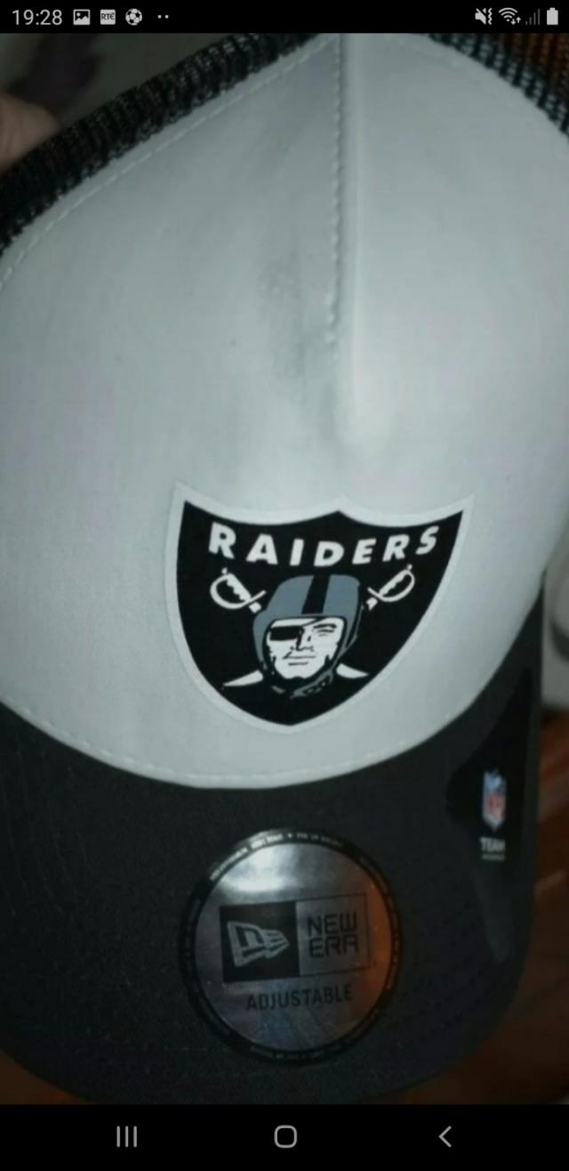 Preview of the first image of raiders bassball cap.