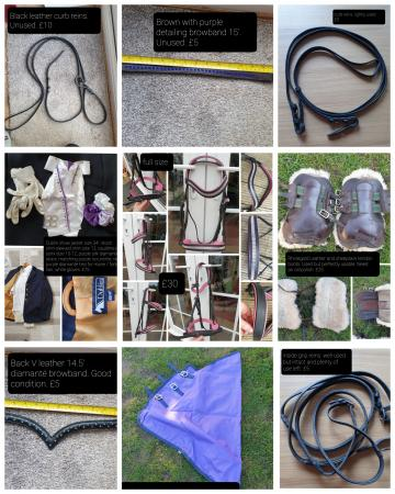 Image 1 of lots of horse stuff for sale