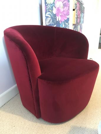 Stylish And Attractive Art Deco Style Chair For Bordeaux Wine Colour In A Luxurious Velvet Material From Swoon Perfect Boudoir Or Would Be
