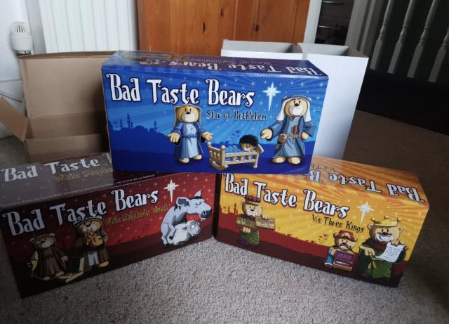 Preview of the first image of Bad Taste Bear Christmas Nativity full set boxed new.