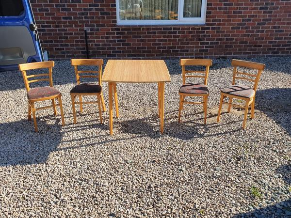 Image 1 of vintage,retro,old,table and chairs