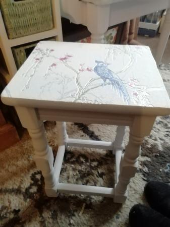 Image 2 of upcycled small wooden coffee table
