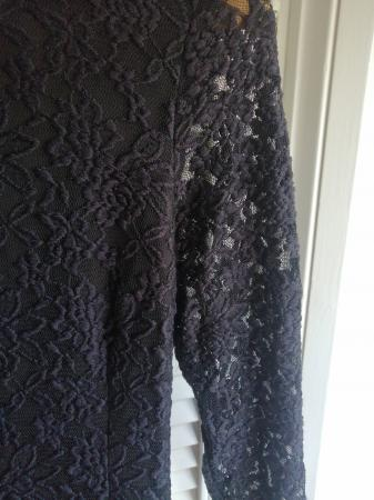Image 2 of black embroidered dress
