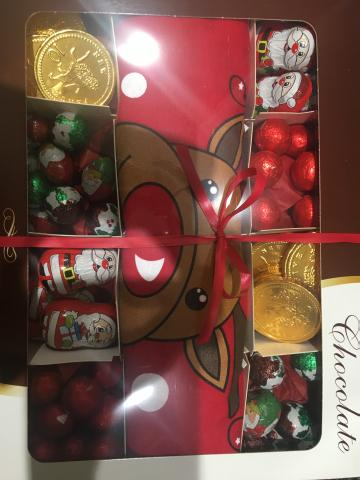 Preview of the first image of Christmas gift boxes chocolate and novelty T-shirt's.