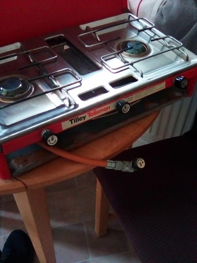 Preview of the first image of camping stove 2 ring burner Tilley talisman.