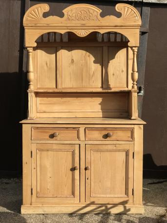 Stunning Antique French Pine Dresser Cupboard Storage