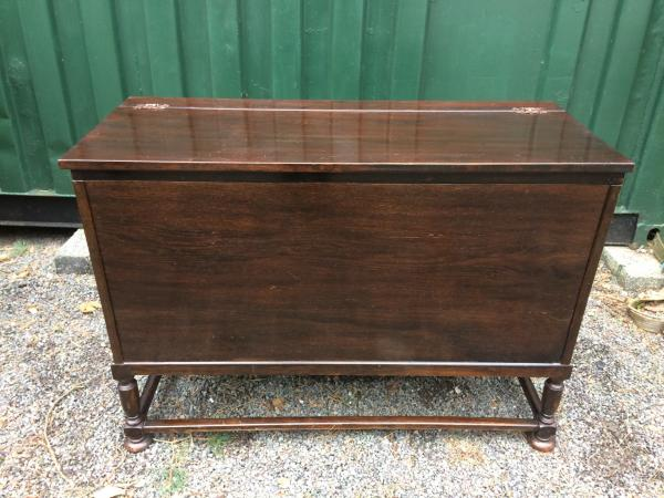 Image 4 of retro oak storage blanket box project upcycle