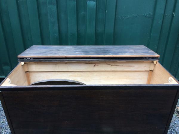 Image 2 of retro oak storage blanket box project upcycle