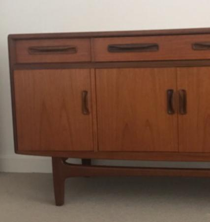 Image 2 of G Plan Fresco sideboard with four doors & four drawers.