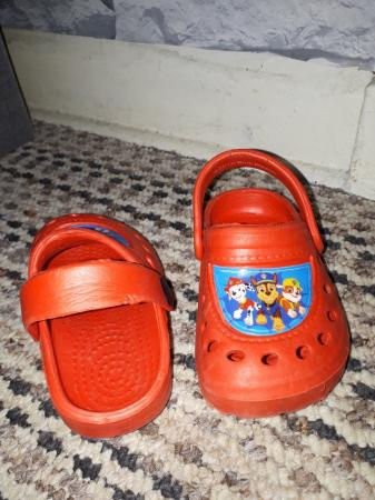 Image 3 of brand new red paw Patrol Crocs size 5 to 6 infants sizes