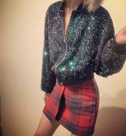 Image 2 of Women plaid tweed skirt