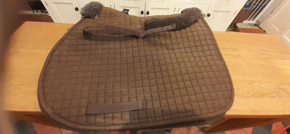 Image 1 of Caldene Full Size sheepskin saddle pad
