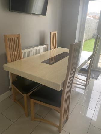 Image 1 of Solid marble dining table