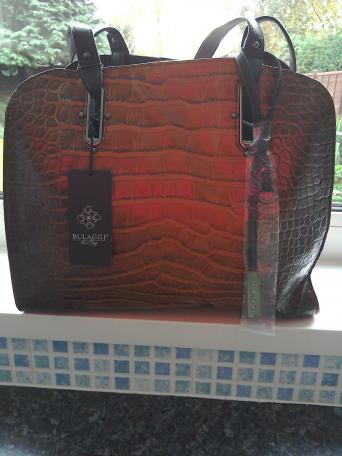 Brand New Italian Brown Mix Leather Bag