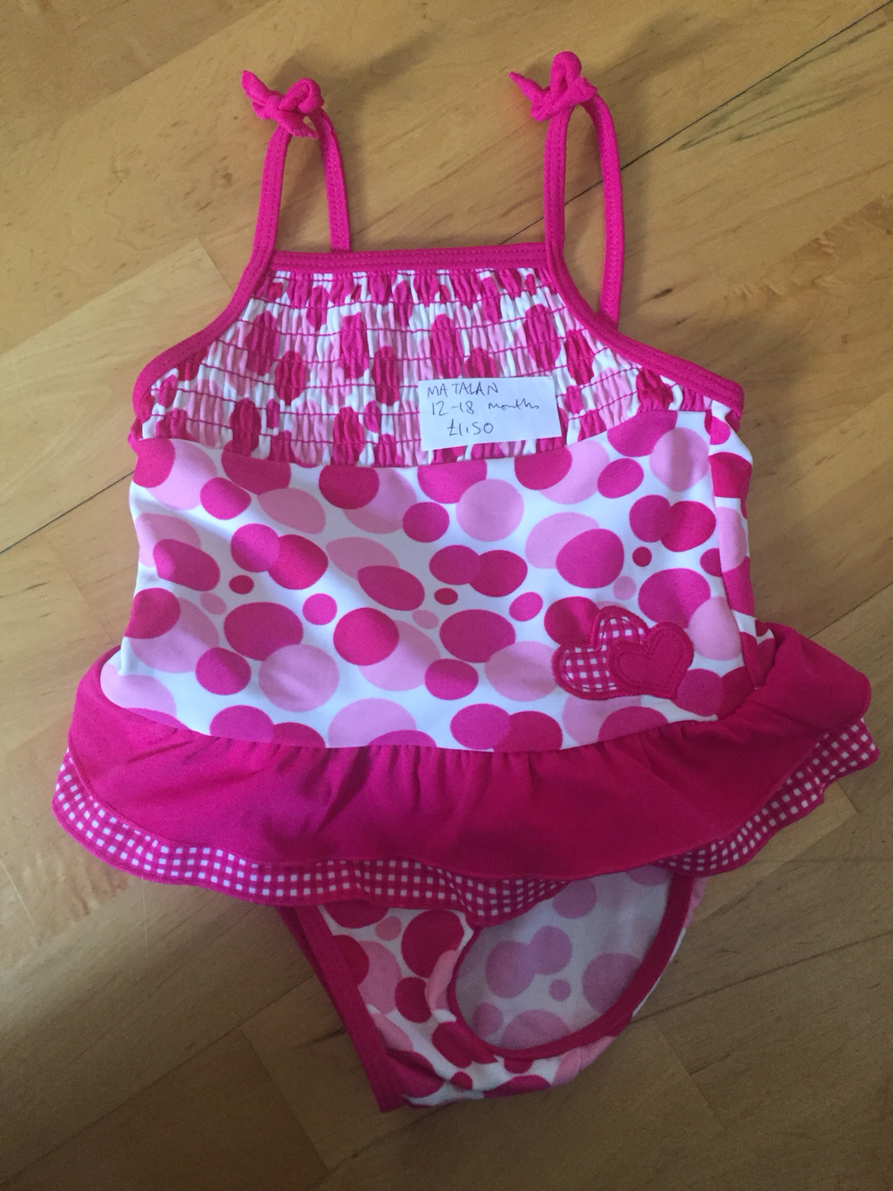 7f05e5e96b7af Baby Girls Swimming Costume 12-18 Months From Matalan Collection From Near  Orpington Hospital Advertised Elsewhere