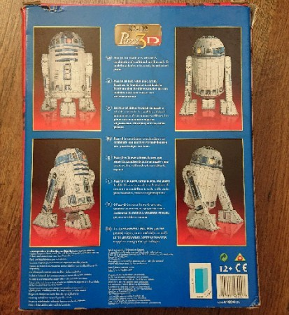 Image 3 of Amazing R2-D2 three-dimensional Puzz3d jigsaw 100% complete