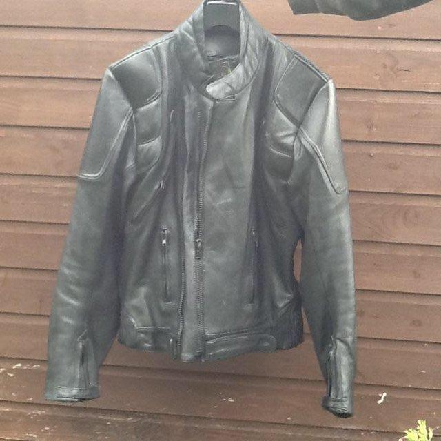 Bikers black Leather Jacket. J & S Leathers, used for sale  Bishops Castle