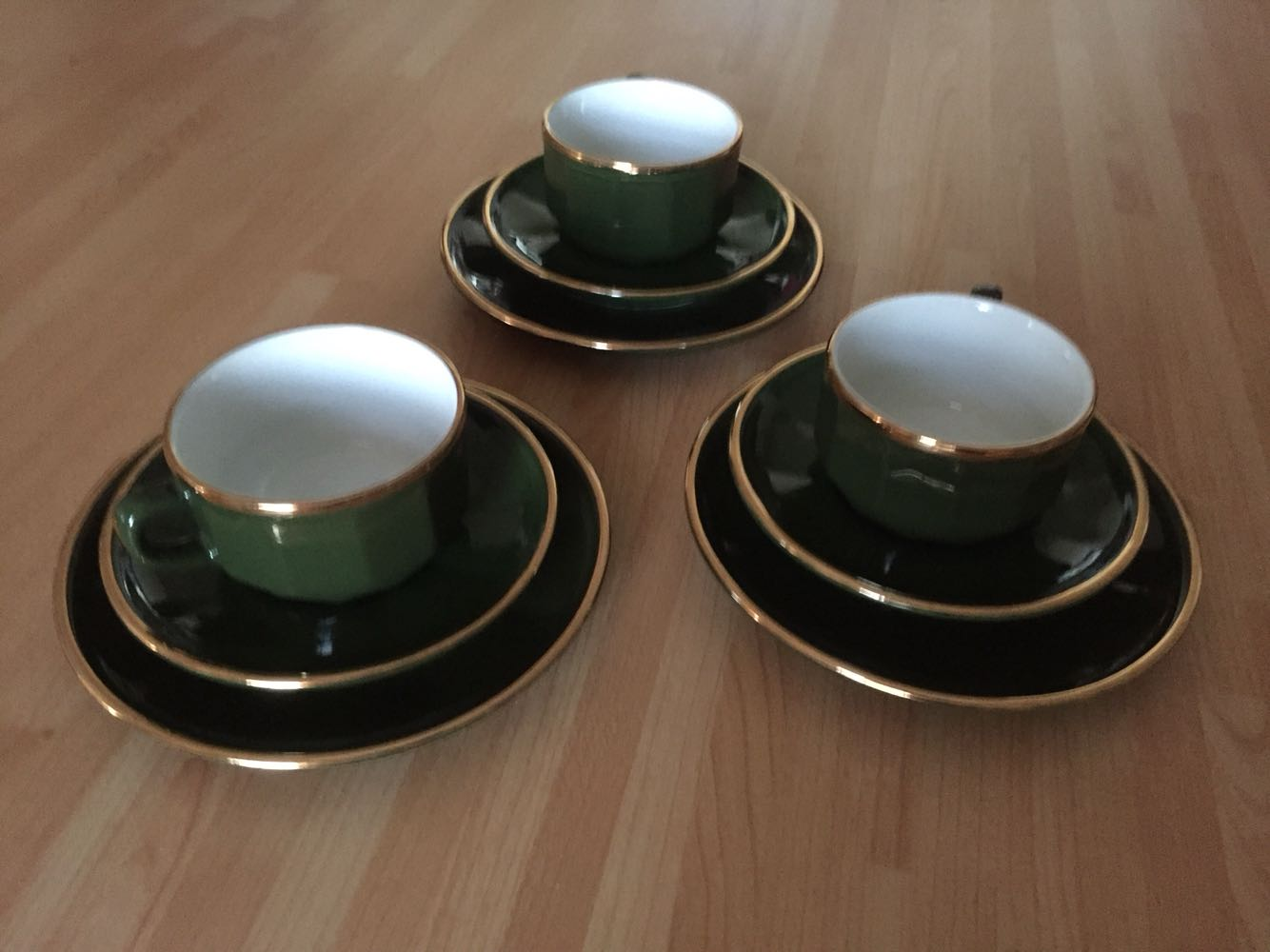 Vintage Porcelain Apilco France Cup Saucers For Sale In Chester