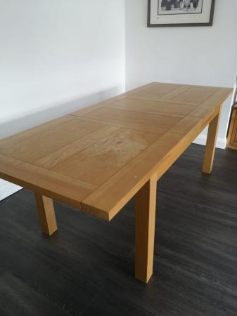 Image 1 of Solid Wood Extendable Dining Table & 6 Chairs