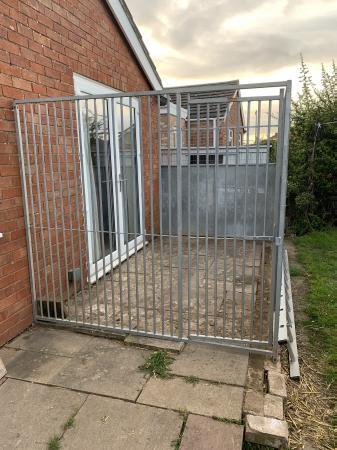 Image 1 of Galvanised steel dog run panels