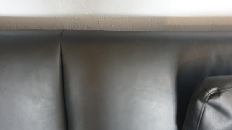 Image 2 of leather sofa bed for sale